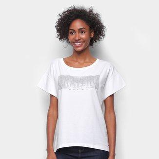 Camiseta Colcci Bravery Com Aplicação Feminina