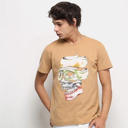 Camiseta Colcci Caveira Masculina
