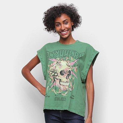 Camiseta Colcci Caveira Sleeveless Feminina