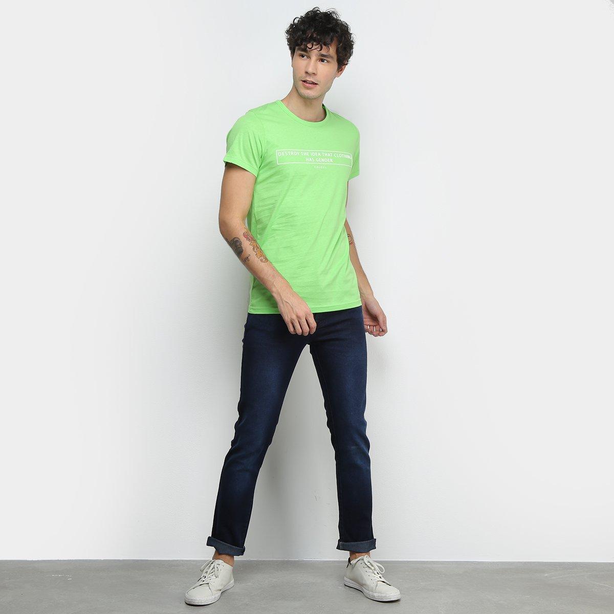Camiseta Colcci Clothes Has Not Gender Masculina - Verde claro