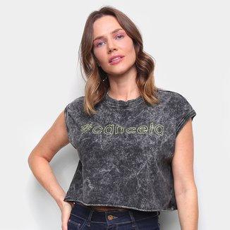 Camiseta Colcci Cropped # Cancela Feminina