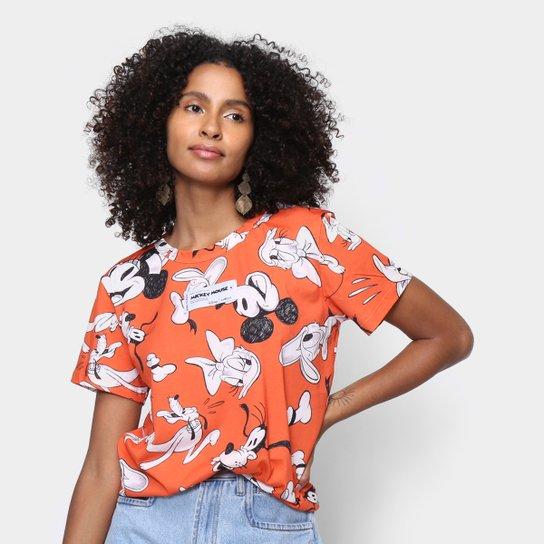 Camiseta Colcci Disney Manga Curta - Laranja
