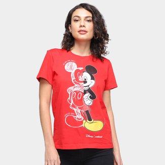 Camiseta Colcci Disney Mickey Manga Curta