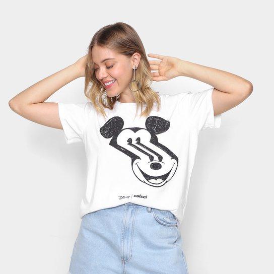 Camiseta Colcci Disney Mickey Mouse Feminina - Off White