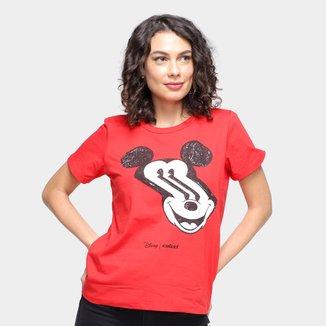 Camiseta Colcci Disney Mickey Mouse Feminina