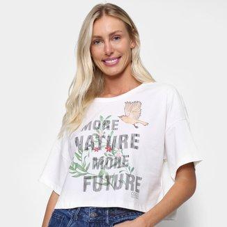 Camiseta Colcci Estampada Manga Curta Feminina