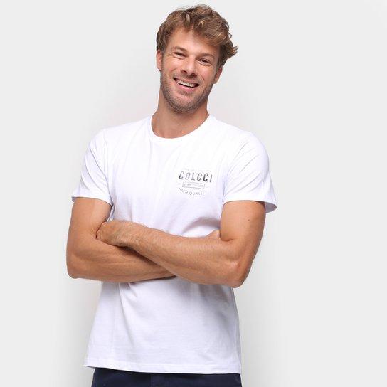 Camiseta Colcci Estampada Manga Curta Masculina - Branco