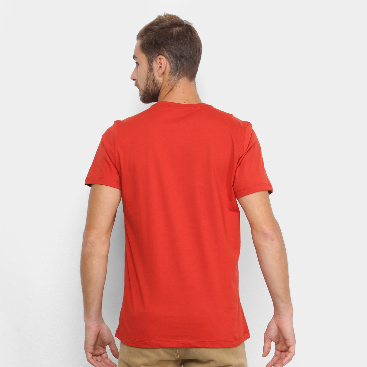 Camiseta Colcci Estampada Manga Curta Masculina - Vermelho