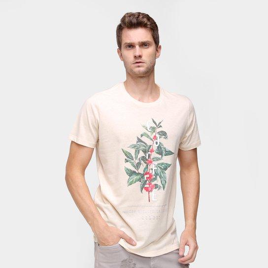 Camiseta Colcci Estampada Masculina - Bege