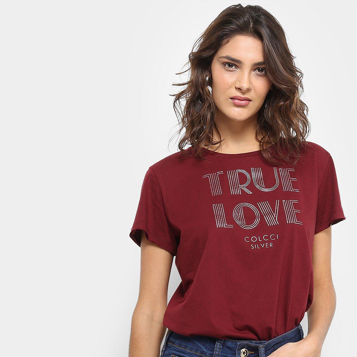 57ee8d189 Camiseta Colcci Estampada True Love Feminina | Zattini