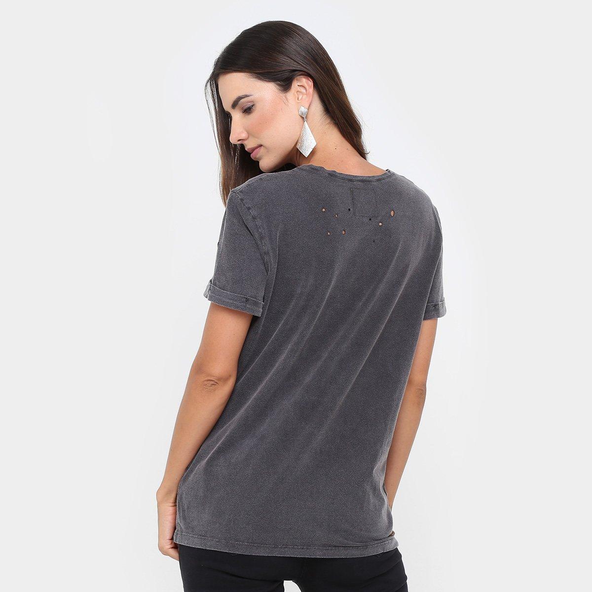 630e78e15f21d Camiseta Colcci Estonada Silk Furos Feminina - Compre Agora   Zattini