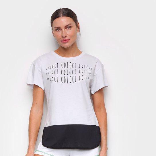 Camiseta Colcci Eye Feminina - Cinza