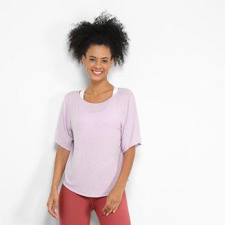 Camiseta Colcci Fitness Linho Priority Feminina