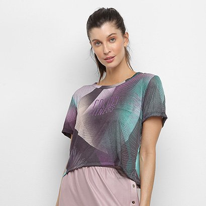 Camiseta Colcci Fitness Tropical Feminina