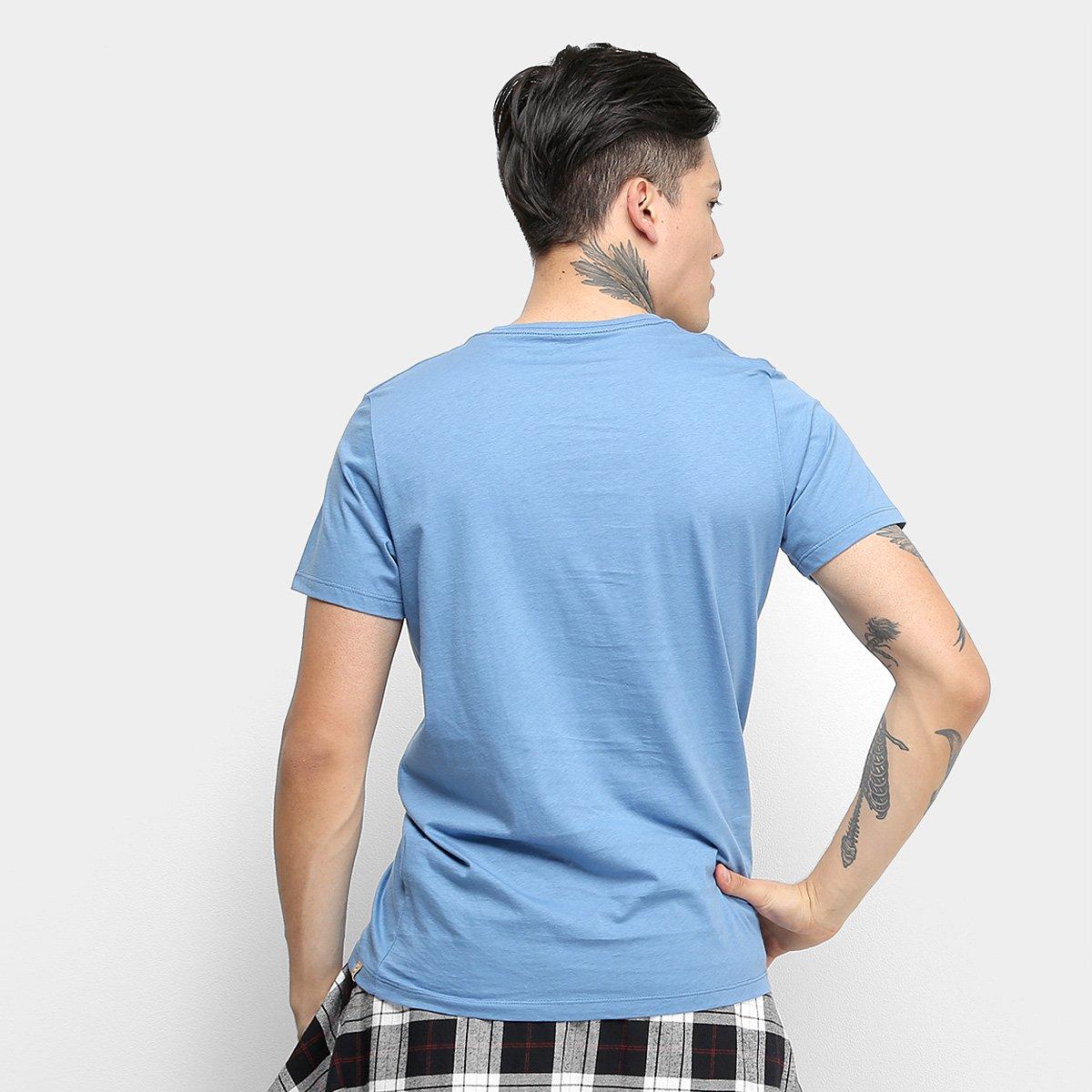 Camiseta Colcci Go Surf Or Go Home Masculina - Azul Escuro