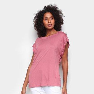Camiseta Colcci Lettering Feminina