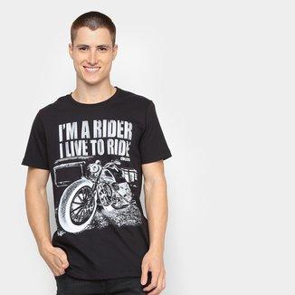 Camiseta Colcci Live To Ride Masculina