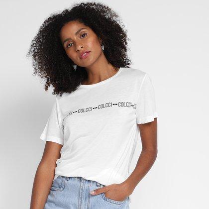 Camiseta Colcci Logo Feminina
