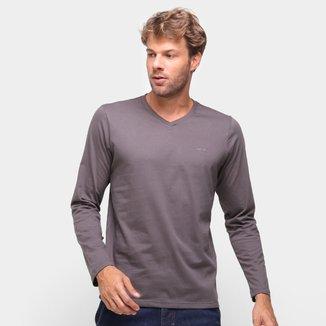 Camiseta Colcci Manga Longa Gola V Masculina