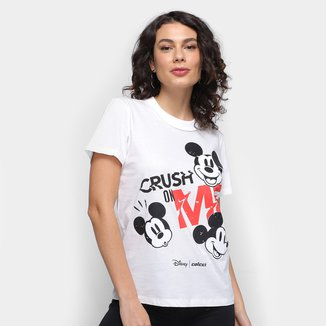 Camiseta Colcci Mickey Disney Feminina