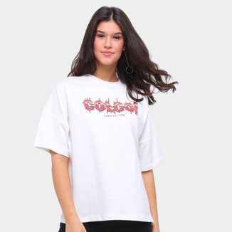 Camiseta Colcci Oversized Hard Edition Feminina