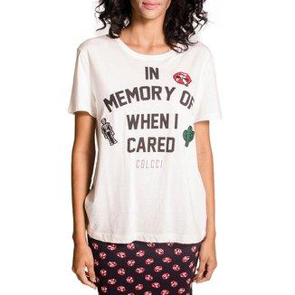 Camiseta Colcci Patches Feminina