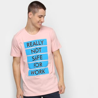 Camiseta Colcci Really Not Safe For Work Masculina