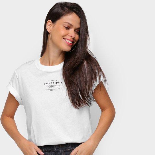 Camiseta Colcci Serendity Feminina - Off White