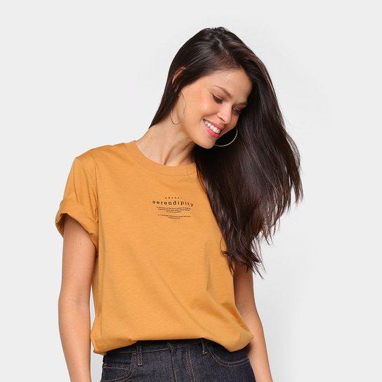 Camiseta Colcci Serendity Feminina - Marrom
