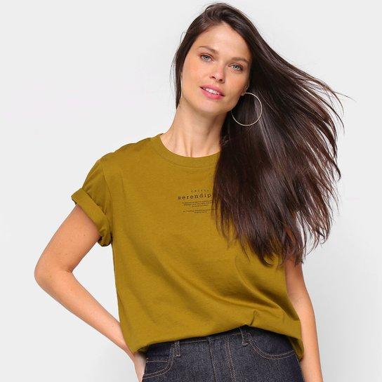 Camiseta Colcci Serendity Feminina - Verde