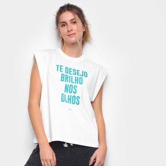 Camiseta Colcci Te Desejo Brilho Nos Olhos Feminina