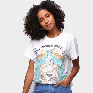 Camiseta Colcci The Word Needs Feminina