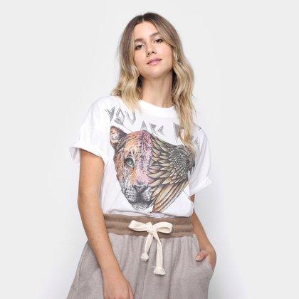 Camiseta Colcci Tigre Águia Feminina