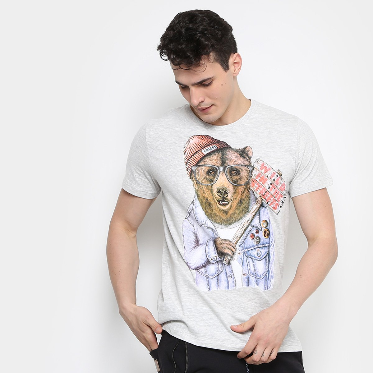 781186c20 Camiseta Colcci Urso Masculina | Zattini