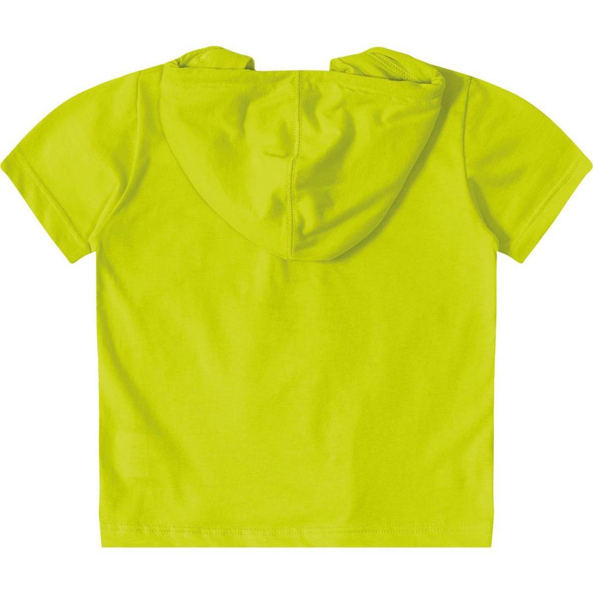 Camiseta Com Capuz Bebê Tigor T. Tigre Masculina - Verde Limão ... 220fc17cc66ad