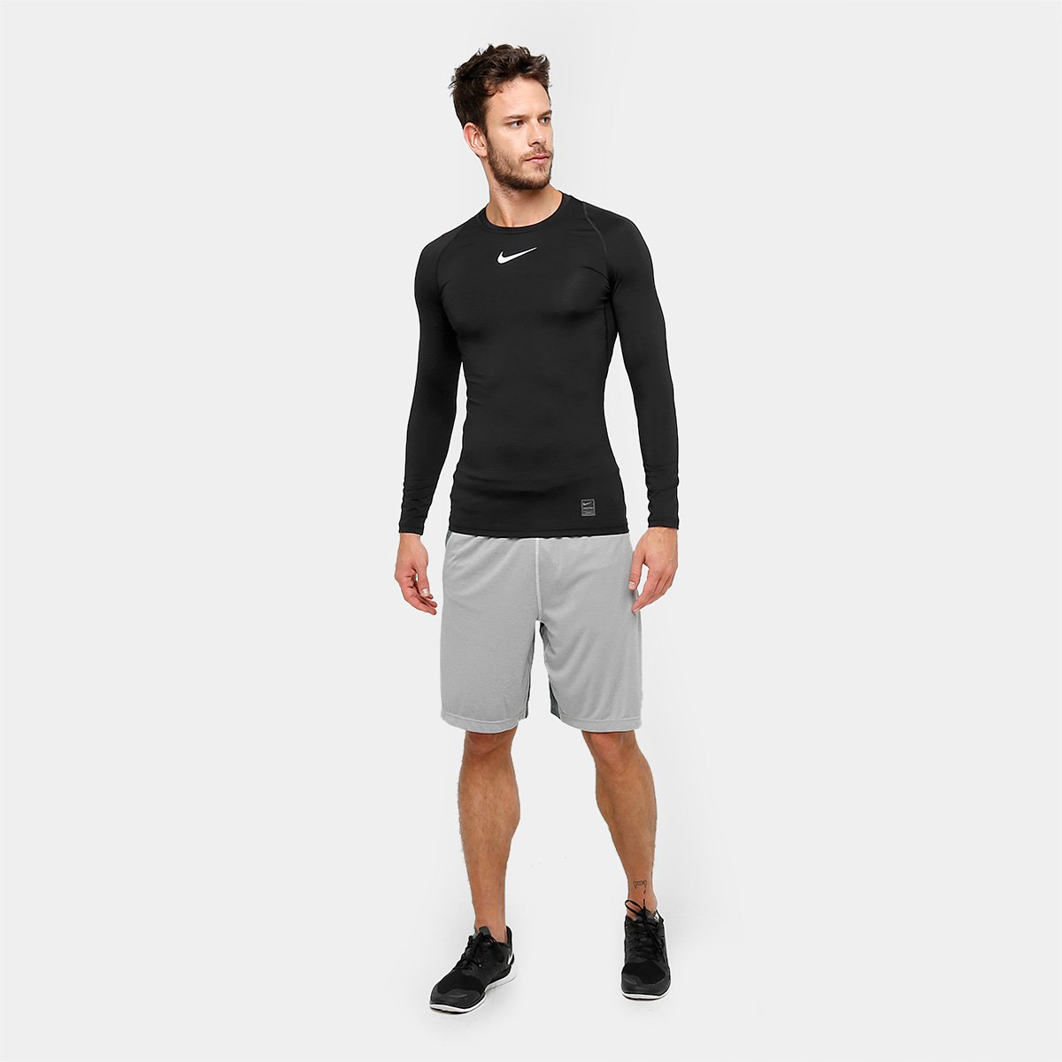 Camiseta Compressão Nike Pro Manga Longa Masculina - Compre Agora ... 10edf23e15ed6