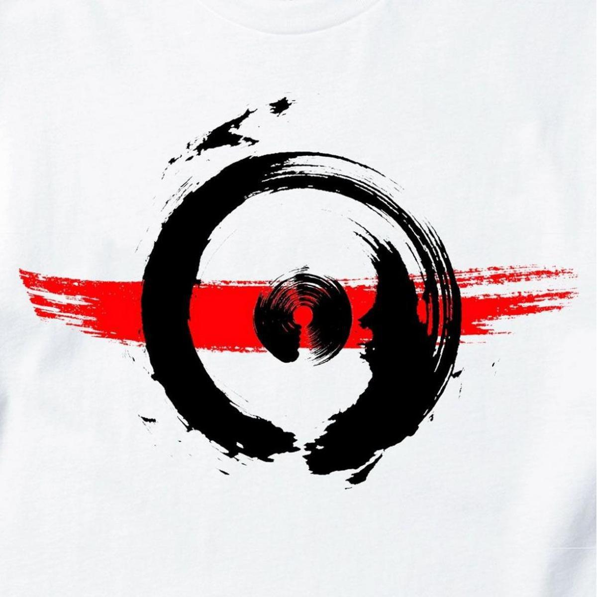 Camiseta Cool Tees Arte em Campo Masculina - Branco e Vermelho