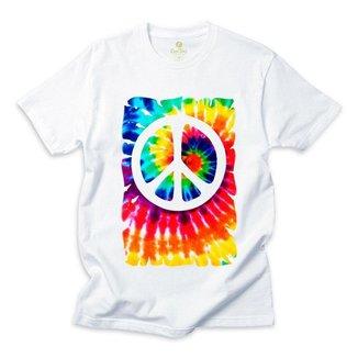 Camiseta Cool Tees Tie Dye Simbolo da Paz Hippie Masculino