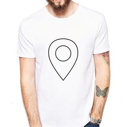 Camiseta Coolest Pin Localização Masculina - Zattini BR