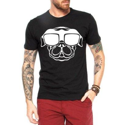Camiseta Criativa Urbana Dog Glasses Engraçadas