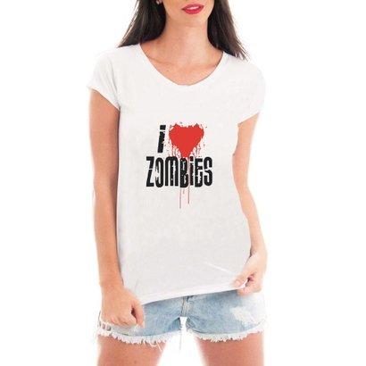 Camiseta Criativa Urbana I Love Zombies