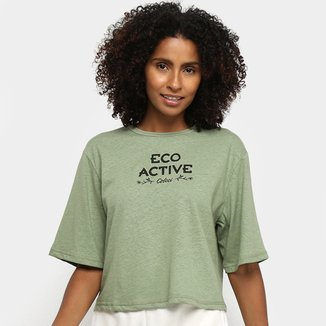 Camiseta Cropped Colcci Fitness Eco Active Feminina