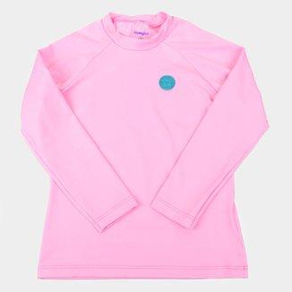 Camiseta de Praia Infantil Kamylus Splash Com Proteção UV 50+ Manga Longa Feminina