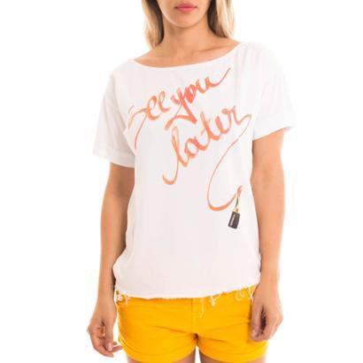 Camiseta Denuncia Com Estampa-Feminino