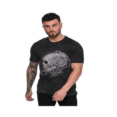 Camiseta Di Nuevo Caveira Astronauta Masculina