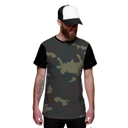 Camiseta Di Nuevo Exército Camuflada Personalizada Swag