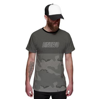 Camiseta Di Nuevo Mescla Camuflada Militar Masculina