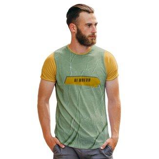Camiseta Di Nuevo Textura Destroyed Fita Masculina