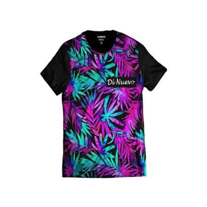 Camiseta Di Nuevo Tropical Havaiana Masculina