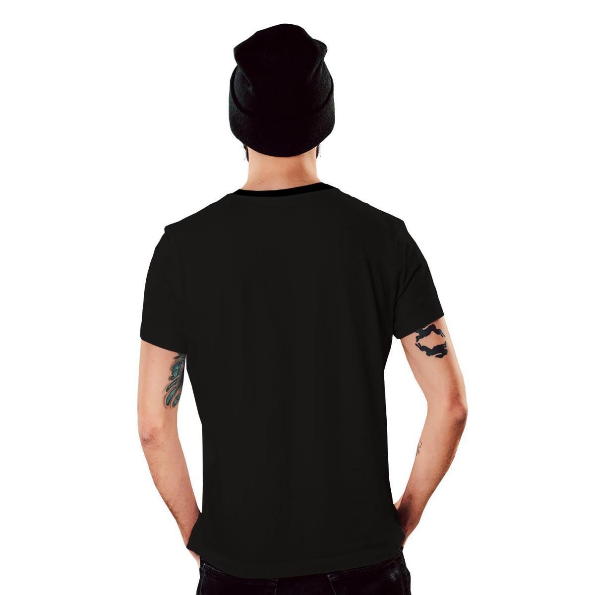 Camiseta Di Nuevo Tropical Havaiana Masculina - Preto